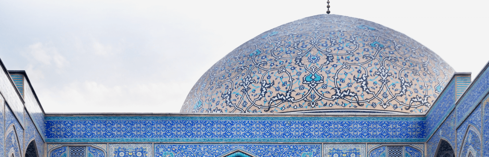 Blue Dome of a Mosque in Iran.