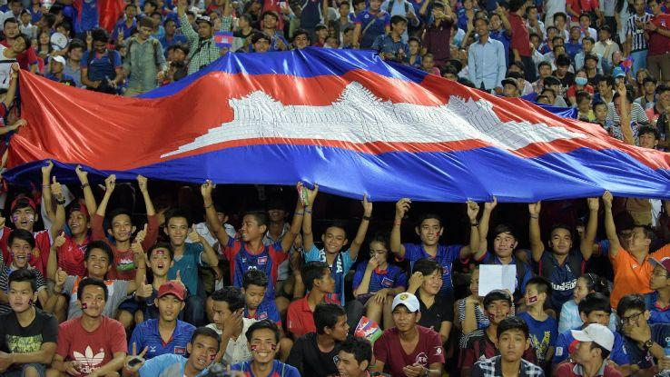 Cambodia soccer fans