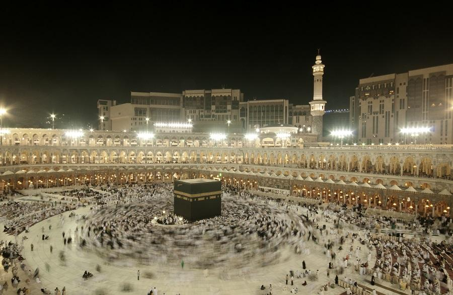 The annual hajj at Mecca.