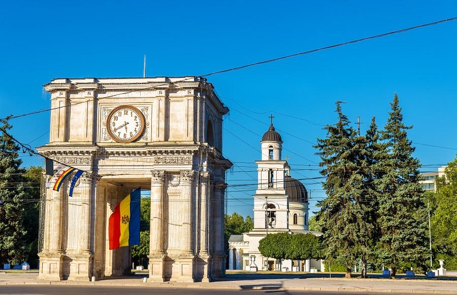 The Triumphal Arch in Chisinau, Moldova/Getty Images