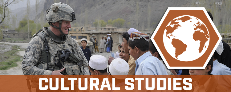 "Homeland Defense and Security Information Analysis Center banner, text says ""Cultural Studies"""