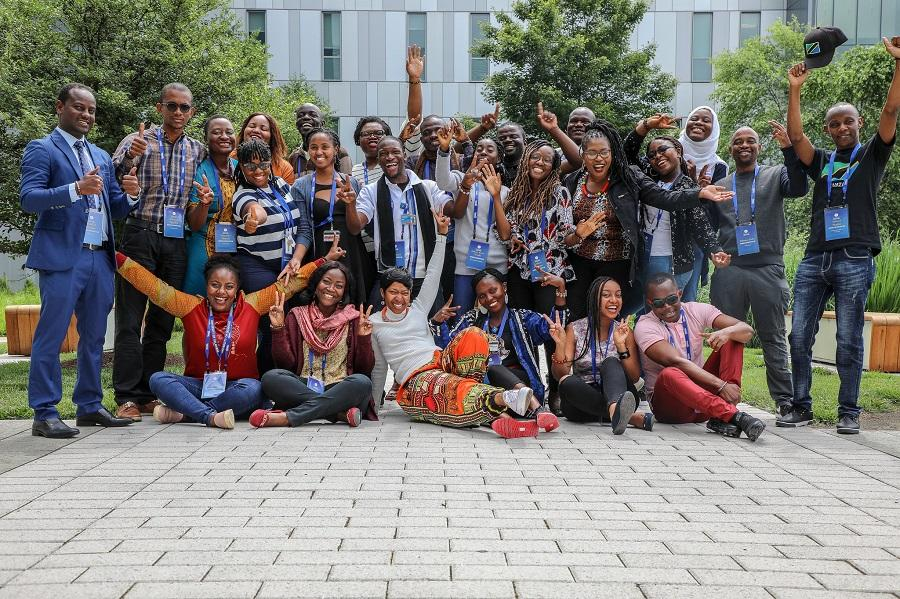 Group of Mandela Washington Fellows at the University of Delaware