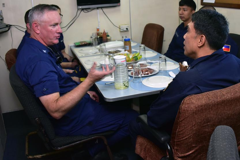 Commander USCGC Bertholf meeting with Philippine Counterparts