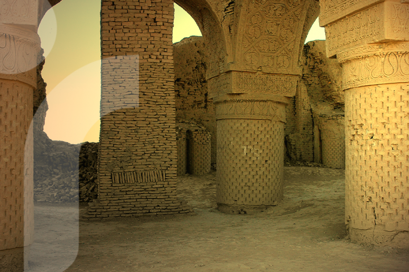 Image of stone pillars at an Afghani cultural heritage site