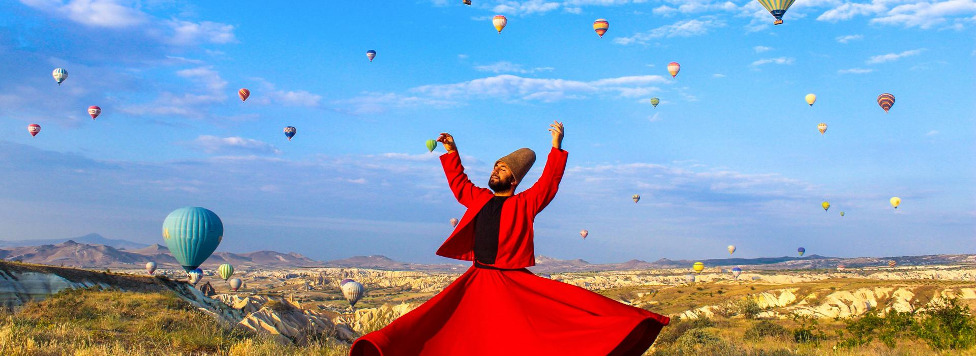 Whirling Dervish in Cappadocia